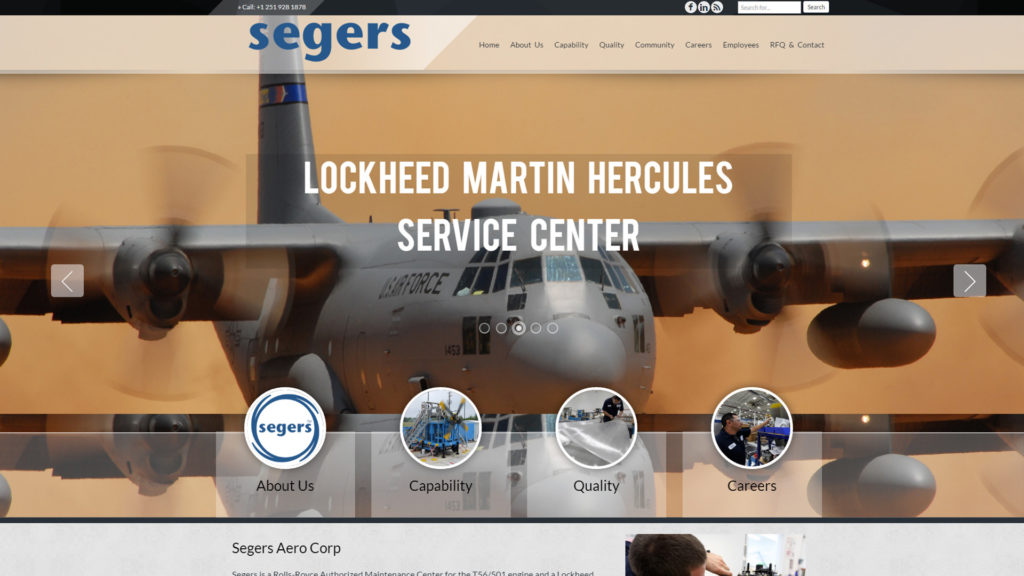 Interpro Technology - Website Design - Segers Aero Corp Website