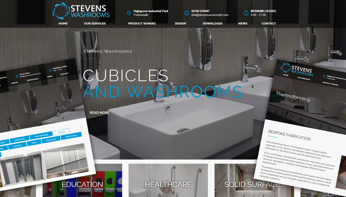 Interpro Technology New Website Launch for Stevens Washrooms in Portsmouth