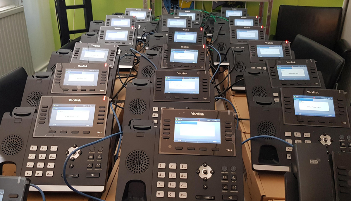 New Hosted Cloud Telephone System Installation