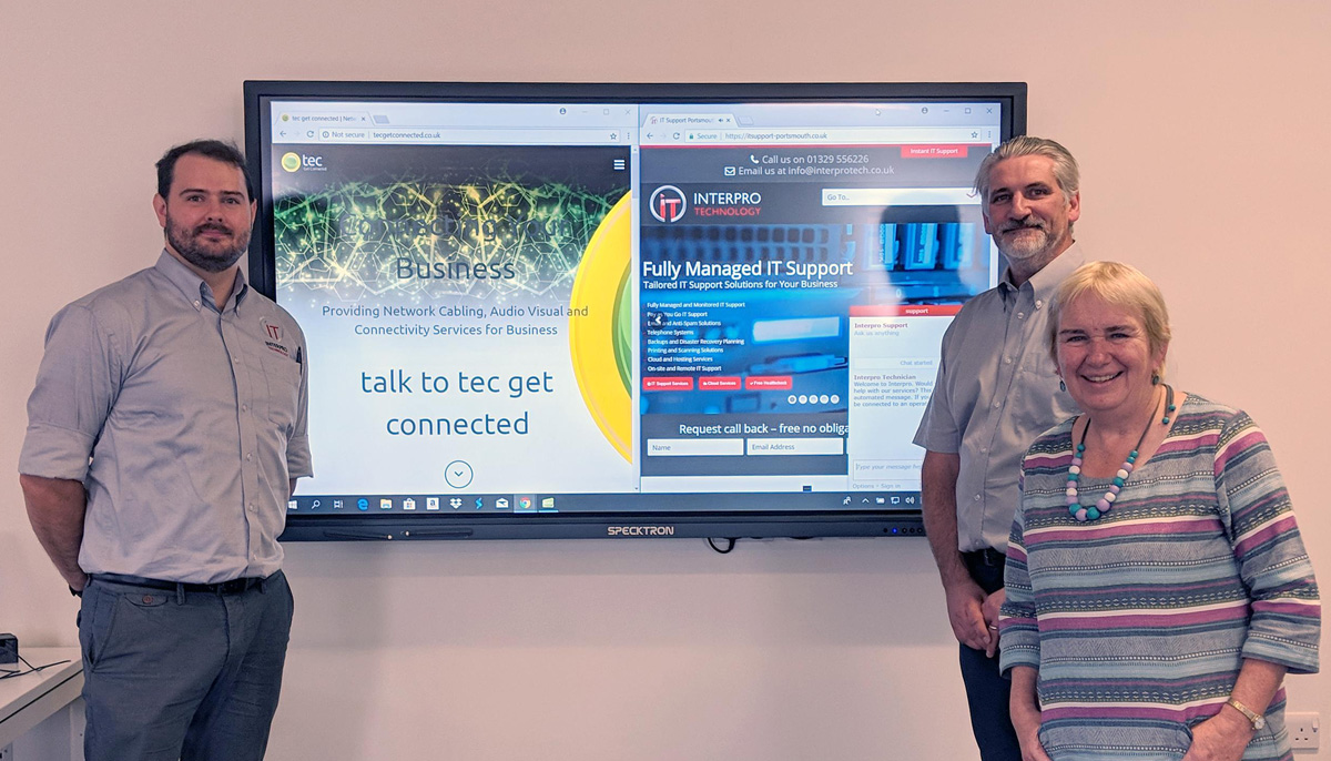 Interpro and Tec team up to supply Mary Rose Classroom Screens